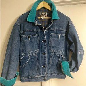 Vintage FORENZA Flannel Lined Trucker Jean Jacket